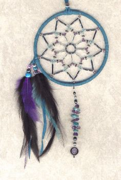 dreamcatchers | Choose your own gemstones for heavily beaded Dreamcatchers.