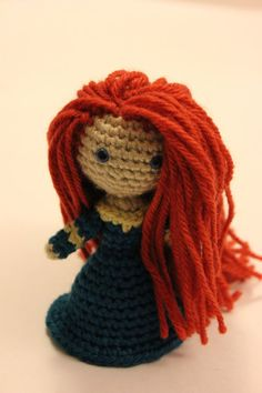 PATTERN Merida Warrior Princess Brave Crochet Doll by Sahrit, $4.95