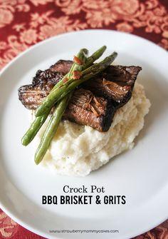 Crock Pot BBQ Brisket and Grits