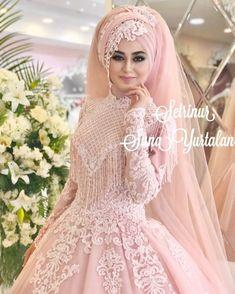 ♡ Breakfast at Shawna's ♡ Muslim Wedding Gown, Muslimah Wedding Dress, Hijab Style Dress, Muslim Wedding Dresses, Muslim Brides, Muslim Dress, Wedding Dresses For Girls, Bridal Dresses, Bridesmaid Dresses