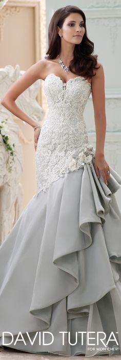 The David Tutera for Mon Cheri Spring 2015 Wedding Dress Collection - Style No. 115230 Blue   davidtuteraformoncheri.com  #weddingdresses