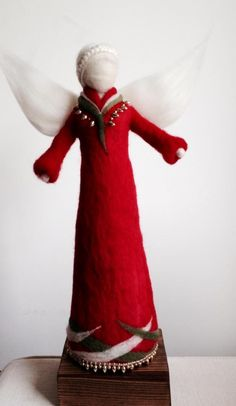 Nature Table, Guardian Angels, Felt Dolls, Doll Patterns, Felt Crafts, Needle Felting, Projects To Try, Crafty, Wool