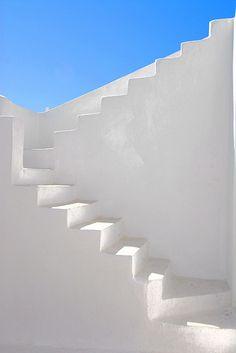 White stairs on Santorini island #kitsakis