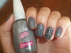 Cinza Curinga, Colorama #nails #cinza