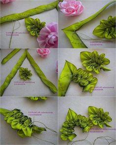 Ribbon Embroidery Design Training Ribbon embroidery, sewing ribbon flowers - Salvabrani Wonderful Ribbon Embroidery Flowers by Hand Ideas. Enchanting Ribbon Embroidery Flowers by Hand Ideas. Ribbon Embroidery Tutorial, Silk Ribbon Embroidery, Embroidery Patterns, Embroidery Supplies, Embroidery Stitches, Embroidery Techniques, Jacobean Embroidery, Embroidery Tattoo, Embroidery Materials