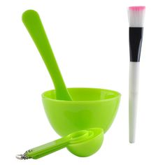 CCbeauty DIY Facial Mask Applicator Bowl Set Makeup Mixing Set Kits Include BowlSpatula Brush Gauge Spoon ** Want to know more, click on the image. (This is an affiliate link and I receive a commission for the sales) #hashtag