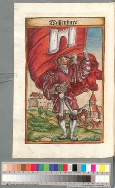 Colour Plate: German State Banners:  Weissenburg, Imperial City