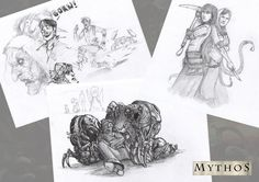 Daffcon 2016 sketches by slaine69.deviantart.com on @DeviantArt