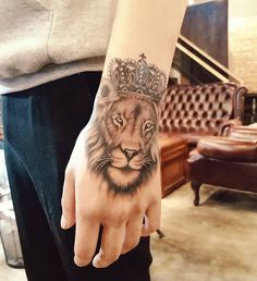 Lion King Palm Tattoo