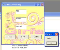 Girfa : Student Help: Database connectivity with MS Access in VB 6.0