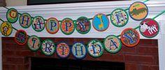 Jungle Happy Birthday  Banner 1st Birthday  5 by APaperPlayground, $33.50