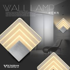 80.00$  Buy here - http://aliy4x.worldwells.pw/go.php?t=32324046347 - Aluminum square led wall lamp bed-lighting background light aisle lights lamps 7113