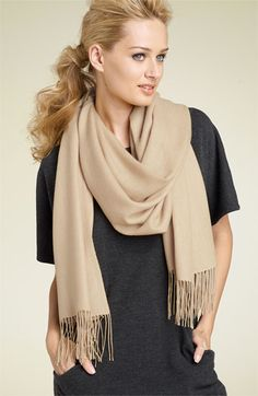 Nordstrom Tissue Weight Cashmere Wrap. Come in every color. Can find these on e-bay occasionally much cheaper!