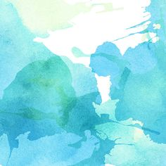 light abstract blue green painted watercolor splashes background