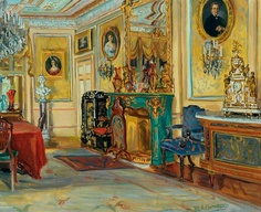 Marie-Louise Pierrepont - Large Drawing Room with a Malachite Fireplace, Cliffe Castle