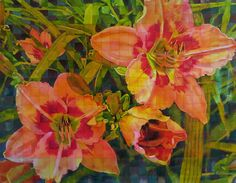"""The Painted Prism: """"Painted Prism Lilies"""" Watercolor by Pat Howard"""