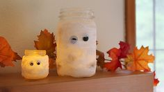 So simple to make! Mummy Luminaries #DIY #Halloween
