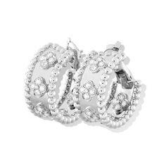 Perlée earrings with clover diamonds - Van Cleef  Arpels