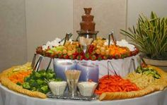 wedding-catering-food-display-and-chocolate-fountain