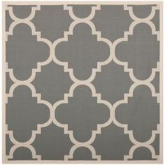 Safavieh Courtyard Grey/Beige 5.3 ft. x 5.3 ft. Square Area Rug-CY6243-246-5SQ at The Home Depot