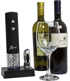Xtrend Rechargeable Electric Wine Bottle Opener – Premium Opener with Foil Cutter and Charger – Perfect GIFT For ANY Occasion!