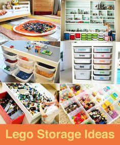 Lego Storage Ideas Lego Storage Ideas Swoop Bags swoopbags Lego Storage Great post from How We Monte. Ikea Storage Bins, Ikea Bins, Storage Room Organization, Lego Storage, Kids Storage, Storage Ideas, Food Storage, Childrens Toy Storage, Baby Toy Storage