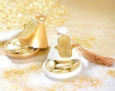 Boîte dragées Tajine or en paquet de 2