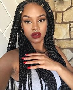 Synthetic twist braids 20 roots/piece box braids afro twist crochet hair extensions bohemia style 1 piece only Sponsored By: Grandma's Crochet Shop Box Braids Hairstyles, African Hairstyles, Fancy Hairstyles, Hair Updo, Curly Hair, Hairstyles 2018, Afro Twist, Twist Braids, Twists
