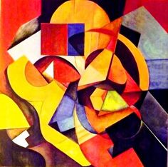 """Saatchi Art Artist giuseppe ribechi; Painting, """"cubo-abstract allegory"""" #art"""