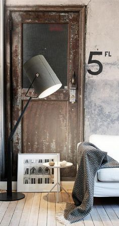 loft-factory-indretning-wallpaper-vintage-bolig-stue-mursten-home-decor