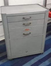 Vintage Tools, Vintage Metal, Mechanic Tool Box, Machinist Tools, Toolbox, Filing Cabinet, Cabinets, Garage, Boxes