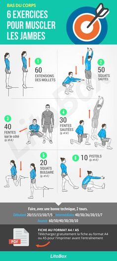 6 exercices pour muscler les jambes