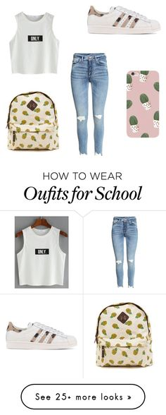 """""""school"""" by marrit-mvdm on Polyvore featuring adidas Originals"""