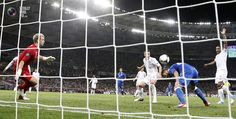 Italy's Nocerino scores a goal, which was later disallowed during their Euro 2012 quarter-final soccer match against England at the Olympic stadium in Kiev. DARREN STAPLES/REUTERS
