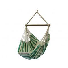 Hangstoel Fresh Green. € 89,99 Braziliaanse hangstoel, fris groene kleuren gecombineerd met de natuurlijke kleur van katoen. Oer sterk en ambachtelijk gemaakt.
