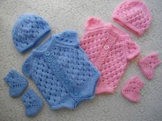 Knitting PATTERN No. 10 Premature Baby or 16 inch by DollieBabies, $5.50
