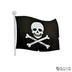 Pirate Flag Decorations, Flags  Bunting, Party Decorations, Party Themes  Events - Oriental Trading