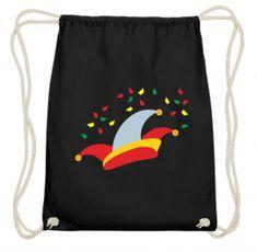 Beutel für den Faschingsumzug mit Narrenkappen-Design #Rucksack #Fasching #Karneval Alaaf You, Basic Shirts, Drawstring Backpack, Backpacks, Bags, Design, Back Stitch, Carnavals, Sachets