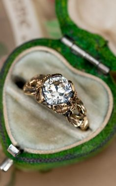 Vintage Engagement Rings, Diamond Engagement Rings, Floral Motif, Diamond Cuts, Wedding Rings, Gold, Jewelry, Jewlery, Jewerly
