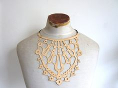 leather lace necklace: from Etsy shop afterWARD Lace Necklace, Leather Necklace, Jewelry Necklaces, Jewellery, Collar Designs, Ceramic Jewelry, Leather And Lace, Jewelry Design, Etsy Shop