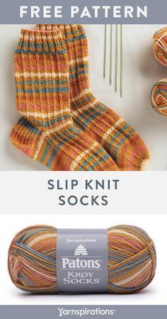 Diy Knitting Socks, Knit Mittens, Knitting Stitches, Knitting Patterns Free, Free Knitting, Crochet Patterns, Knit Socks, Patons Yarn, Crochet Wool