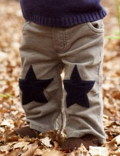 Knee Patch Idea, because boys will be boys, but they can still look adorable while doing boy stuff.