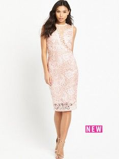ax-paris-midi-crotchet-dress-pink
