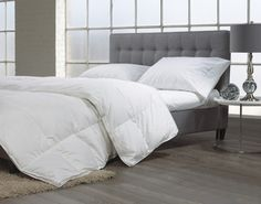 NAME: 50/50 White Down/Feather Duvet SKU(S): 195402, 195404, 195406, 195408 & 195409 SIZES: Twin, Double, Queen, King & King XL
