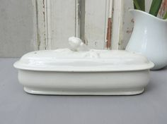French Antique Toiletry Box/French Vintage Toothbrush