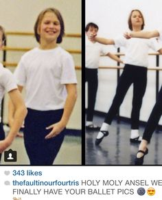 Ansel in ballet. I just fell off my bed.