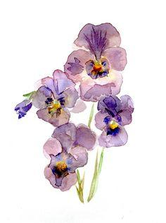 tekening-viooltjes-aquarel.jpg (550×738)