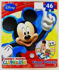 amazoncom disney mickey mouse clubhouse 3 foot 46 piece floor puzzle toys
