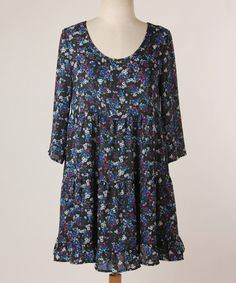 Look what I found on #zulily! Royal Floral Tiered Dress by Final Touch Collection #zulilyfinds
