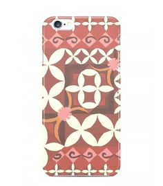 Beige and Red Ornament Batik 3D Iphone Case for Iphone 3G/4/4g/4s/5/5s/6/6s/6s Plus - BTK0293 - FavCases